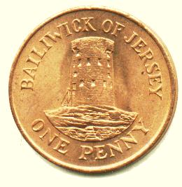 one penny jersey coin